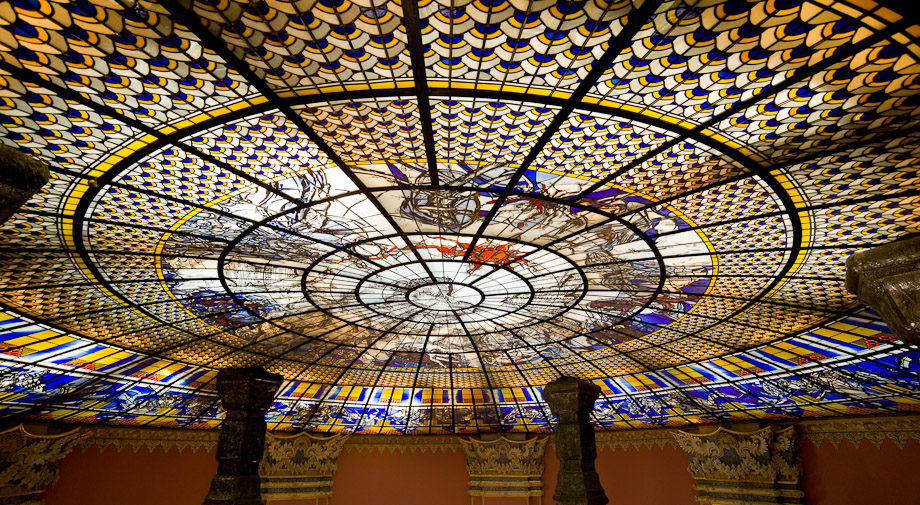 Looking up - The Erawan Shrine Ceiling